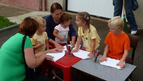 Plnění prvního úkolu avelké zaujetí dětí