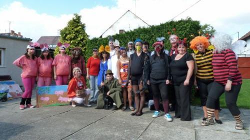 Pohádkový les 2012,pohádkové postavy předrozchodem nasvá stanoviště