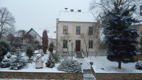 Jeden zněkolika bílých dní zimy 2016v Lišanech
